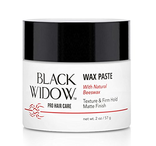 Unisex Scented Hair Wax - Natural Beeswax Paste Infused with Lanolin Wax for Styling All Hair Types - Firm Hold and Matte Finish Hair Styling Wax - Wax Paste with Natural Beeswax by Black Widow, 2 oz