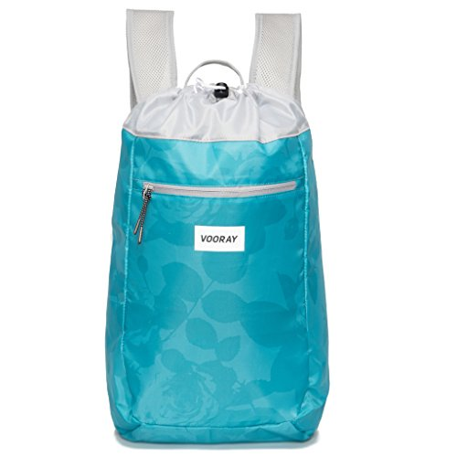 vooray-stride-16l-cinch-drawstring-backpack-mint-floral