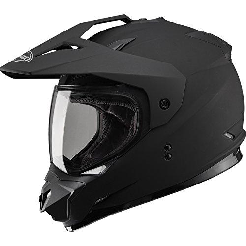 GMAX GM11 D/S Solid Men's Motocross Motorcycle Helmet - Flat Black / - Solid Helmet Road Off 3