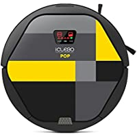 iCLEBO YCR-M05-P POP Smart Vacuum Cleaning Robot for Pet Allergies, Lemon and Black