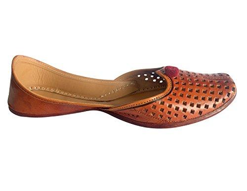 Étape N Style Dames À La Main Mojari Khussa Chaussures Chaussures Plates Jutis Ballerine À Plat