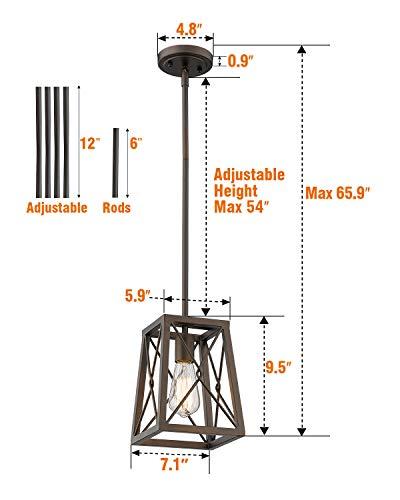 Farmhouse Ceiling Light Fixtures FEMILA Farmhouse Pendant Light, 1-Light Metal Wire Cage Hanging Lantern, Oil Rubbed Bronze Finish, 4FY16-M1L ORB farmhouse ceiling light fixtures