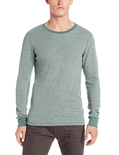 Threads 4 Thought Men's Flex Thermal Long Sleeve Crew, Evergreen, XX-Large (Evergreen Polyester Thread)