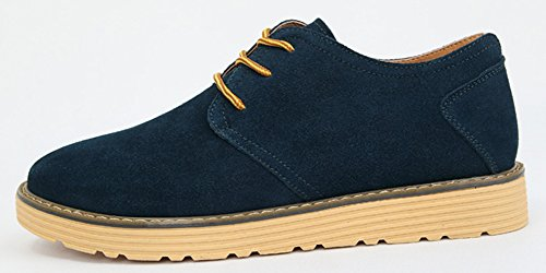 Diffyou Mens Fashion Flat Lace Up Oxfords Comfy Sneakers Blue q7T8jIILN
