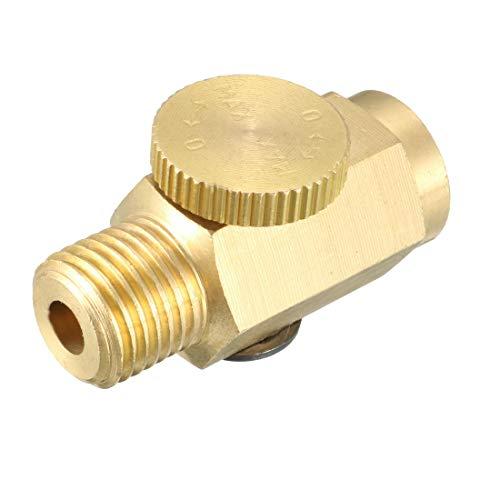 uxcell Brass Air Regulator, in-Line Air Flow Regulator Valve Brass Connector, 1/4
