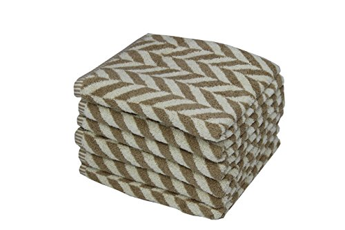 HomeCrate Luxurious Versailles Hand Towels - Super Soft And Absorbent, 100% Terry Cotton, 600 gsm, Taupe Set of, Size 20