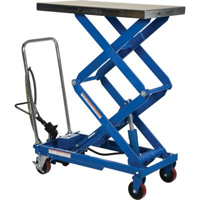 Vestil Scissor Cart - Air Hydraulic, 800-Lb. Capacity, 35 1/2in.L x 20in.W, Model# AIR-800-D