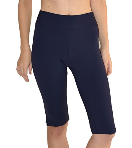 Private Island Hawaii UV Women Rash Guard Short Pants (X-Large, Navy)