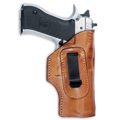 Front Line Inside the Waistband Leather Holster (Brown), Right Hand, 4-Inch Revolver 357