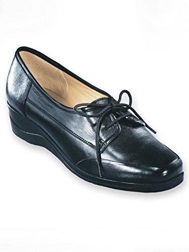 à cuir Pediconfort Noir lacets en Derbies 7w58q5f