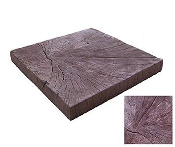 Dunkles Quadrat Stamm   Holz Beton Effekt Dekorativen Pflasterplatte Für  Garten Und Terrasse