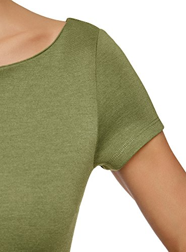 Verde Viscosa Ultra Donna Camicetta 6200n Basic oodji in fYpTx