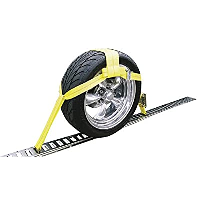 Erickson 8314 3500 lb. E-Track Adjustable Tire Basket Strap with Cam Buckle and Ratchet: Automotive