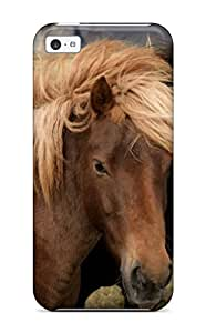 Premium Three Beautiful Horses Back Cover Snap On Case For Iphone 5c