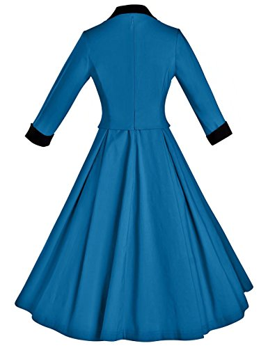 Rockabilly Prom Blue Women's Dresses Retro GownTown Vintage 1950s wqn61UxCa