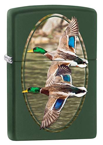 Zippo Lighter: Two Ducks Flying - Green Matte 80160