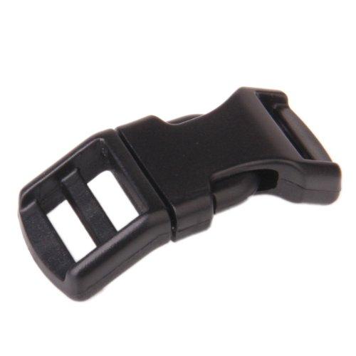 20pcs Curved Side Release Plastic Buckles for 15mm Webbing Straps KKTPY0699