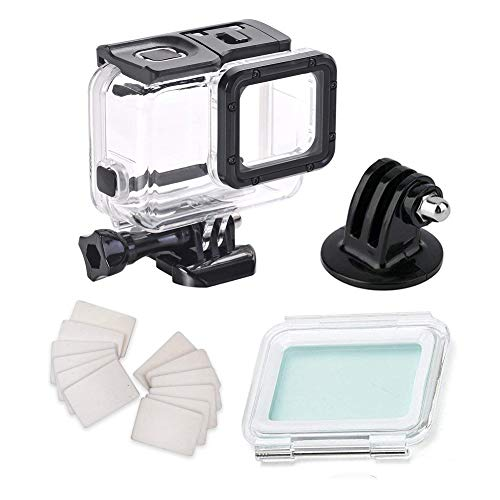 - Waterproof Housing Case for Gopro Hero7 Silver Hero7 White, with Anti Fog Inserts Accessories Suitable for Underwater Diving Photography 45M Protective Shell
