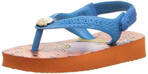 Pictures of Havaianas Kids Flip Flop Sandals, Baby Flintstones, Bamm-Bamm Rubble, (Toddler/Little Kid), Neon Orange, Neon Orange,22 BR (8 M US Toddler) 1