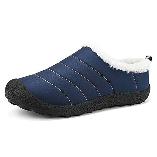 Deslizadores Zapatillas Casa Mujer Cómodas Muje Al Para De Algodón Antideslizantes Libre Aire En Azul Invierno Dormitorio zq5wAzr