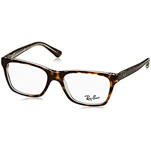 Ray Ban Junior RY1536 Eyeglasses-3602 Top Dark Havana On Transparent-48mm