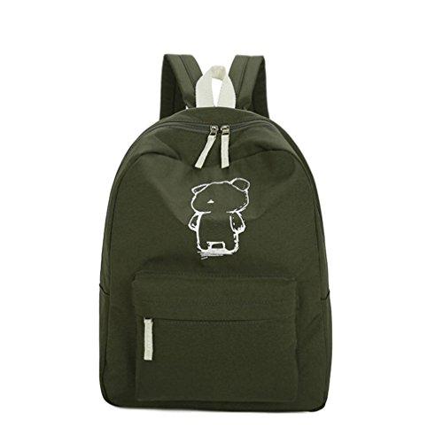 VIASA Women's New Backpack Travel Handbag School Rucksack (Army Green)