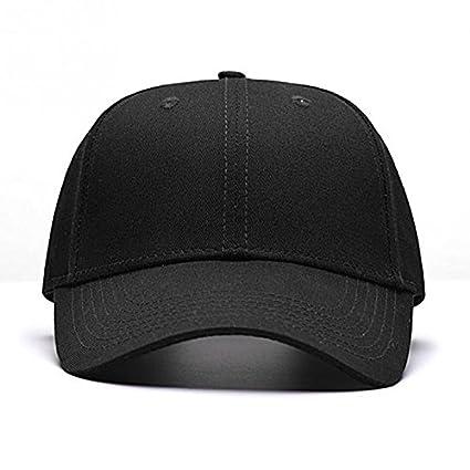 SLGJ Adulto de Color Negro sólido Casual Unisex Ajustable Snapback Gorras Sombreros para Hombres Mujeres Hombres