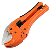 KSEIBI 141780 PVC Pipe Plumbing Tube Plastic Hose Cutter Pliers Tool 1/8-inch to 1-5/8-inch Ratcheting Type Pipe Cutter (QUICK)