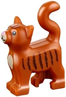 LEGO Animal Standing Cat Kitten Dark Orange Pet from Minifigures Friends x1 Loose