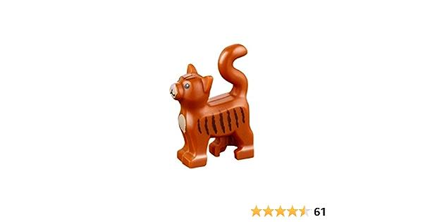 Dog Loose Accessory Loose LEGO Dark Orange and Black Husky