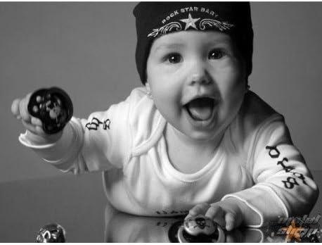 Conjunto de regalo Rock Star Baby pl/ástico 5/piezas Heart /& Wings