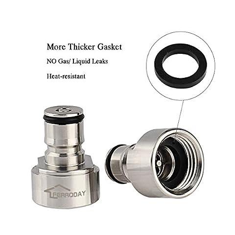 FERRODAY Ball Lock Keg Coupler Adapter – Sankey to Ball Lock Quick Disconnect Conversion Kit Fits to A D S G Type Keg…