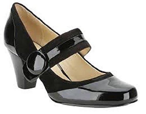 Kleid Black Alpine Patent Schuhe Kombi Clover Smart Clarks Damen tgZxqYwOn