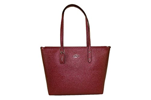 Coach City Zip Tote Leather Metallic Cherry (Metallic Cherry)