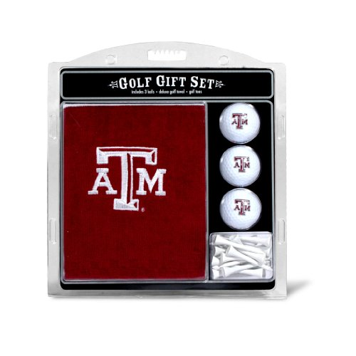 Team Golf NCAA Texas A&M Aggies Gift Set Embroidered Golf Towel, 3 Golf Balls, and 14 Golf Tees 2-3/4