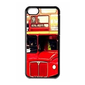 iPhone 5C Cases British London Red Double Decker Bus Cute For Girls, Iphone 5c Cases Fashionable Kweet, [Black]