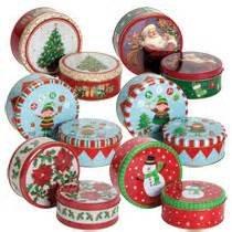 Christmas Tins.Amazon Com Round Nesting Christmas Tins Designs May Vary