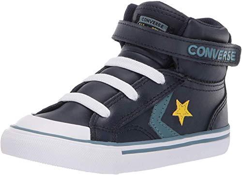 Converse Boys Infants' Pro Blaze Strap Leather High Top Sneaker, Obsidian/Celestial Teal 7 M US Toddler