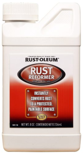 Rust-Oleum Automotive 248659 8-Ounce Rust Reformer Bottle, Black (Rust Converter Paint)