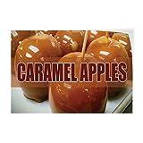 Caramel Apples #1 Indoor Store Sign Vinyl Decal Sticker 8'