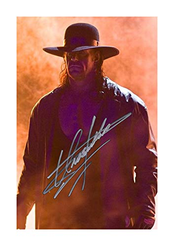 Engravia Digital The Undertaker (2) WWE Poster Signed Autograph Reproduction Photo A4 - Poster Autograph