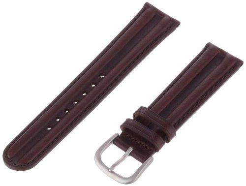 Hadley-Roma Men's MSM890RB-200 20-mm Brown Waterproof Leather Watch Strap