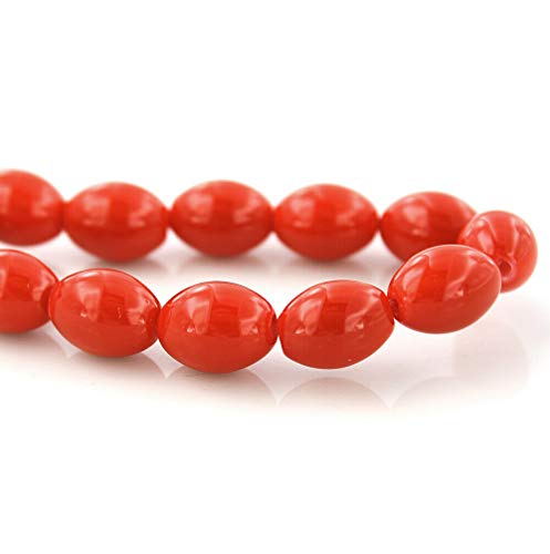 Oval Glass Beads Ruby Red 8mm x 6mm - Approx 100 Pieces 1 Full Strand - BD005