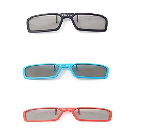 Bush Tv Review (3 Pairs of Passive Universal 3D New Standard Clip on Glasses available for Prescription Eyewear for use with all Passive 3d Tvs Cinema)