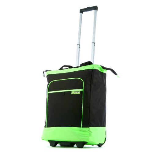 Olympia Luggage Rolling Shopper Tote, Lime, One Size
