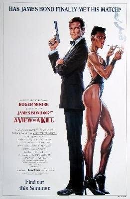 James Bond Poster////Vintage James Bond Movie Poster////A View to Kill Movie Poster//