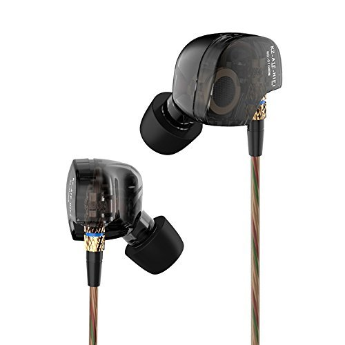 Beteran KZ ATE KZ-ATE Dynamic Balanced Armature IEMS In Ear HIFI Monitors DJ Studio Stereo Music Earphones Headphone Earbuds For Mobile Phone iPhone Samsung MP3 MP4 Music Player no Mic (Balck)