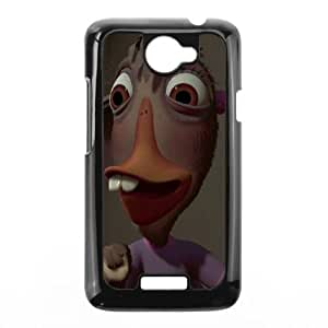 HTC One X Cell Phone Case Covers Black Chicken Little Character Abby Mallard vlde
