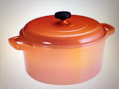 Tramontina 6.5 Qt Enameled Round Cast Iron Dutch Oven, ORANGE