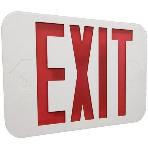 Morris 73512 LED Exit Sign, White Housing, Battery Backup, Self Diagnostic, (Classic White Exit Signs)